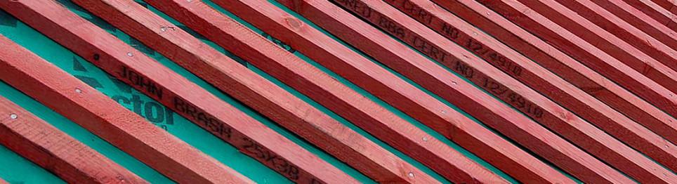Installing Underlay And Tile Battens Roof Tile