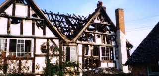 Firs House fire damage east and west elevations