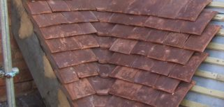 Firs – close up roof Tudor handmade tiles